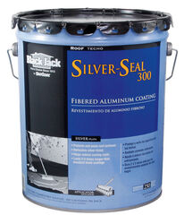 Black Jack  Silver Seal 300  Gloss  Silver  Fibered Aluminum  Roof Coating  4.75 qt.