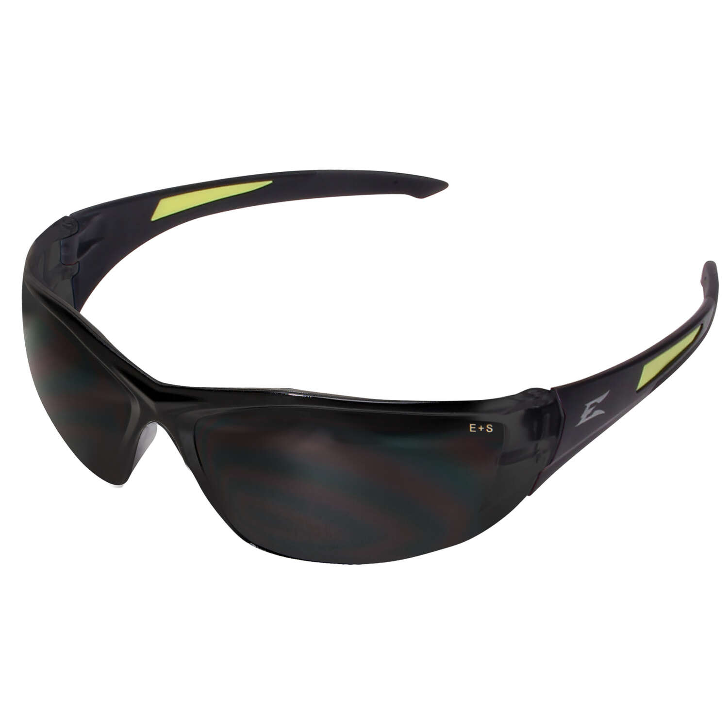Edge Eyewear  Safety Glasses  Smoke Lens Black Frame 1 pc.