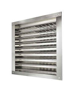 Master Flow  12 in. W x 12 in. L Metallic  Silver  Aluminum  Wall Louver