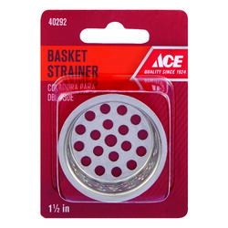 Ace  1-1/2 in. Dia. Chrome  Replacement Strainer Basket