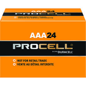 Duracell  ProCell  AAA  Alkaline  Batteries  1.5 volts Boxed  24 pk
