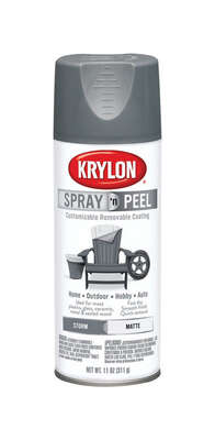 Krylon  Spray 'n Peel  Matte  Storm  Spray Paint  11 oz.