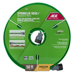 Ace  5/8 in. Dia. x 50 ft. L Sprinkler  Green  Vinyl  Hose