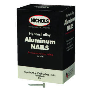 Nichols Wire  1-1/4 in. L Siding  Aluminum  Nail  Round Head Plain Shank  1  1 lb.