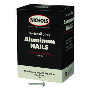 Nichols Wire  1-1/4 in. L Siding  Aluminum  Nail  Round Head Smooth  1  1 lb.