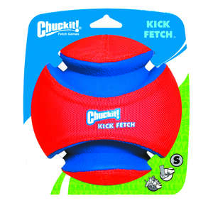 Chuckit!  Multicolored  Kick Fetch  Rubber  Ball Dog Toy  Small
