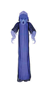 Gemmy  Short Circuit Ghost  Lighted Halloween Decoration  8 ft. H x 10-1/2 in. W x 7-7/8 in. L 1 pk