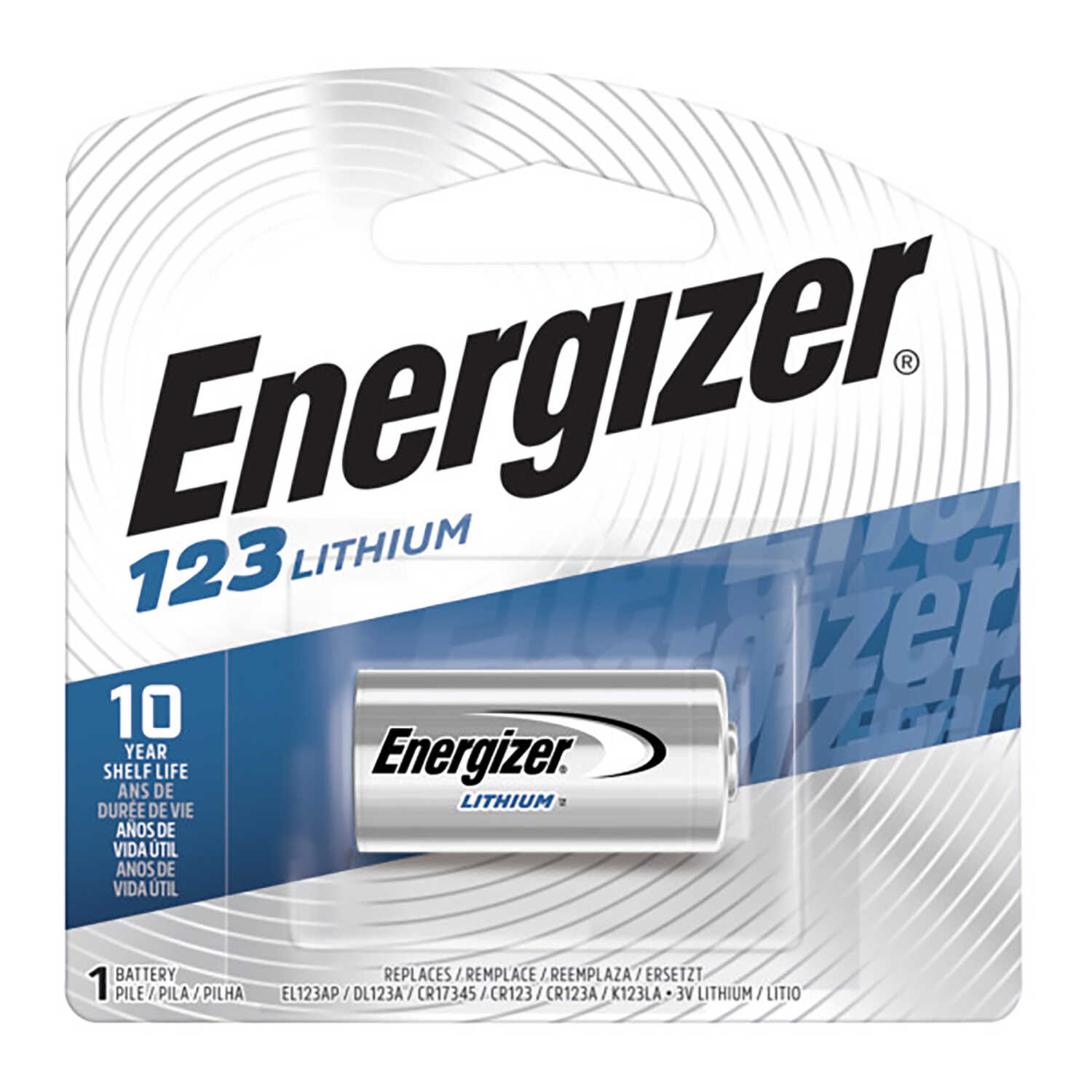 Energizer  Lithium  123  3 volt Camera Battery  1 pk