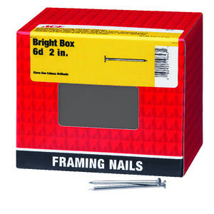 Ace  6D  2 in. L Box  Bright  Steel  Nail  Smooth  Flat  5 lb.