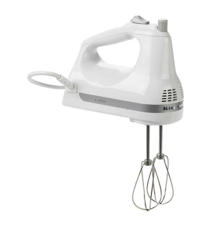 KitchenAid  White  5 speed Hand  Mixer