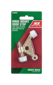 Ace  1 in. H x 2-5/8 in. W Bright  Gold  Metal  Hinge Pin Door Stop  Mounts to door and wall