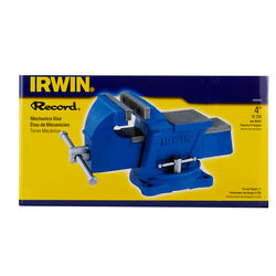 Irwin Record 4 in. Cast Iron Mechanics Vise 120 deg. Swivel Base