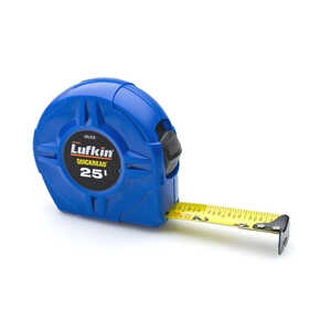Lufkin  25 ft. L x 1 in. W Tape Measure  1 pk Blue