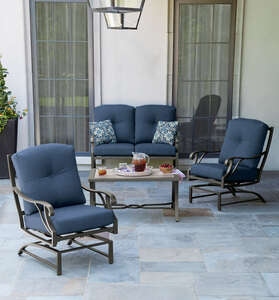 Living Accents  4 pc. Somerset Indigo  Deep Seating Set  Blue