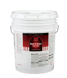 Ace  Flat  Black  Water-Based  Latex  Barn and Fence Paint  5 gal.