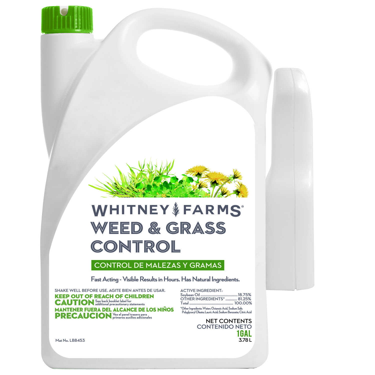 Whitney Farms  RTU Liquid  Organic Weed and Grass Control  1 gal.
