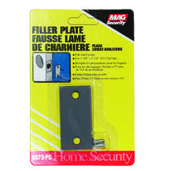 Prime-Line  Gray  Steel  Edge Filler Plate  1 pk