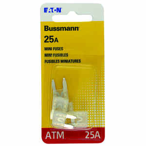 Bussmann  25 amps ATM  Mini Automotive Fuse  5 pk