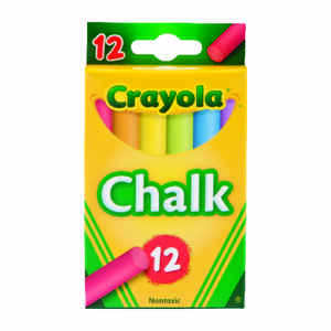 Crayola  Assorted  Chalk  12 pk
