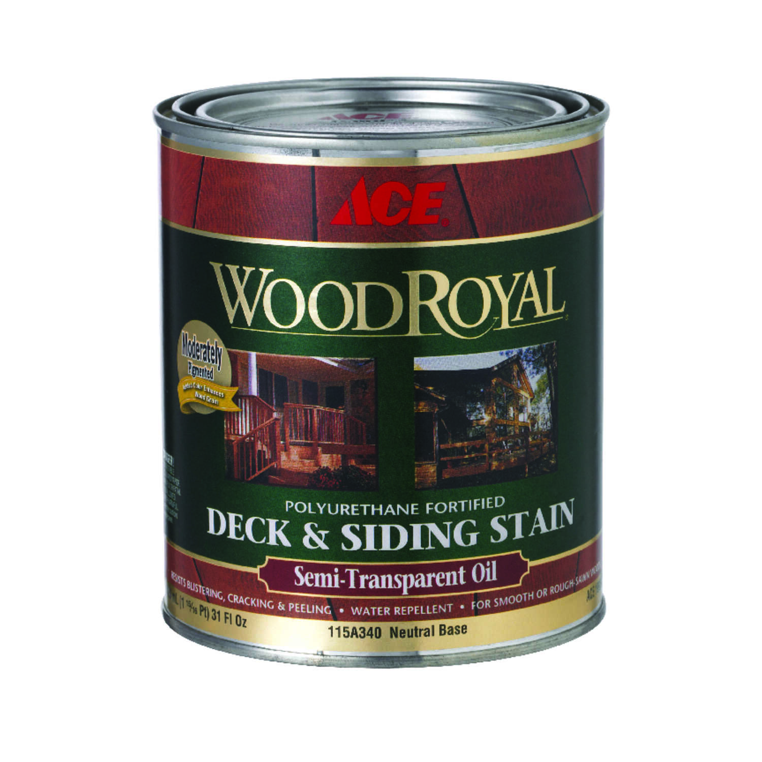 Ace  Wood Royal  Semi-Transparent  Tintable Neutral Base  Penetrating Oil  Deck and Siding Stain  1