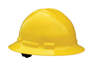 Radians  Quartz  Polyethylene  Full Brim  Hard Hat  Yellow  1 pk