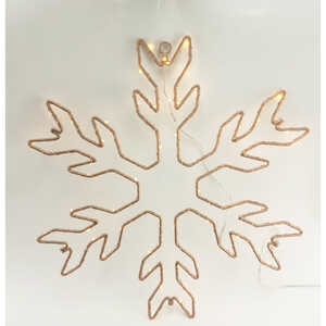Gerson  Snowflake Sign  LED Christmas Decoration  1 each Metal