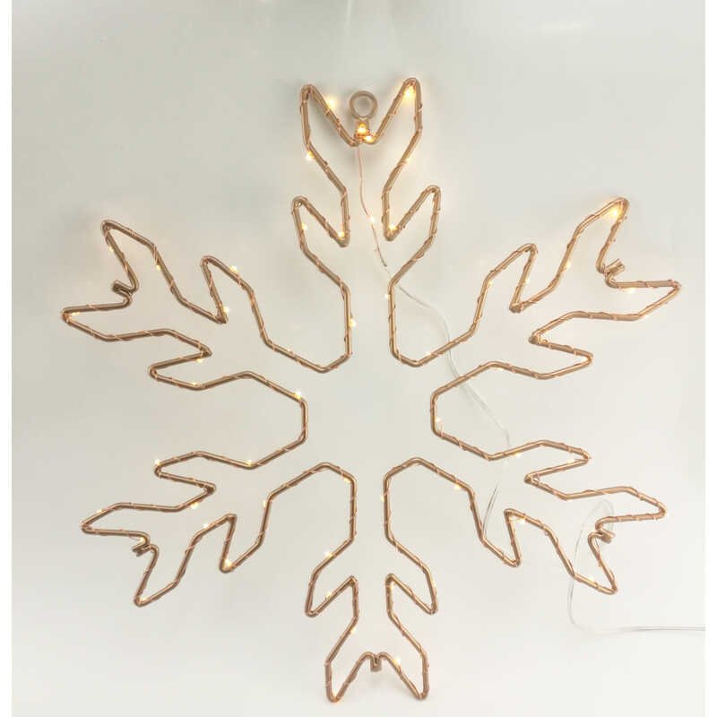 Gerson  Snowflake Sign  LED Christmas Decoration  Metal  1 each