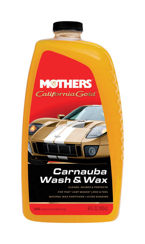 Mothers  California Gold  Liquid  Automobile Wash/Wax  64 oz. For All Paint Types