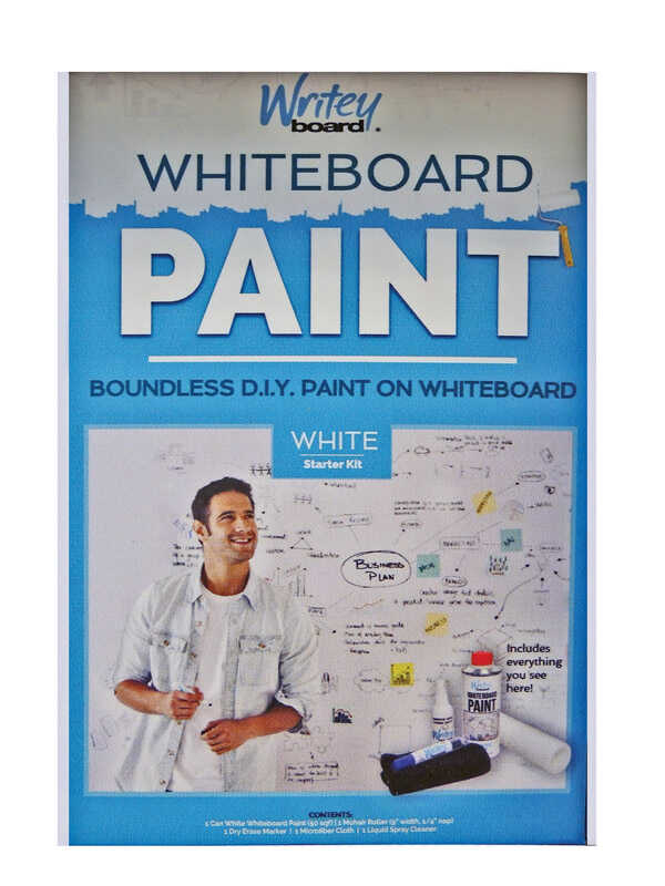 Writey Board  Hi-Gloss  White  Whiteboard Paint  17 oz.