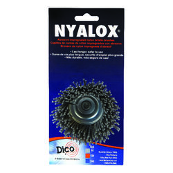 Dico Nyalox 2.5 in. Dia. x 1/4 in. x 1/4 Dia. Crimped Nylon Mandrel Mounted Cup Brush 4500 r