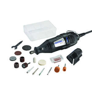 Dremel  Corded  1/8 in. Kit 120 volts 2-Speed Rotary Tool  35000 rpm 15 pc.