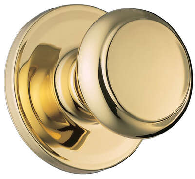 Weiser  Troy  Polished Brass  Passage Lockset  ANSI/BHMA Grade 2  1-3/4 in.