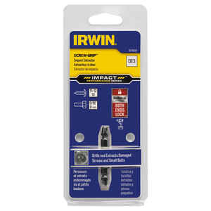 Irwin  Impact SCREW-GRIP  .13 in.  M2 High Speed Steel  Double-Ended Screw Extractor  2 in. 1 pc.