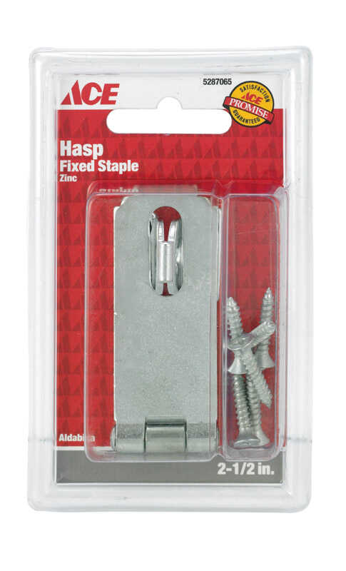 Ace  Zinc  2-1/2 in. L Fixed Staple Safety Hasp