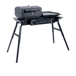 Blackstone  Tailgater Combo  2 burners Liquid Propane  Outdoor Griddle Grill  Black