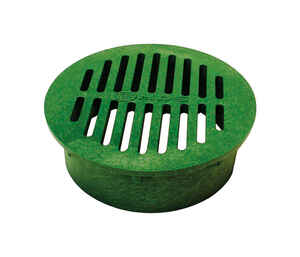 NDS  6 in. Green  Polyolefin  Round  Grate