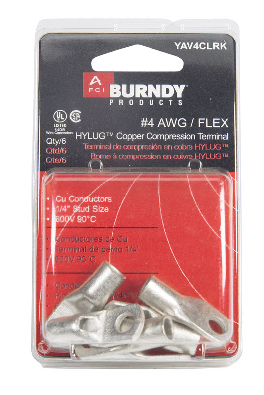 Burndy  Insulated Wire  12 pk Ring Terminal