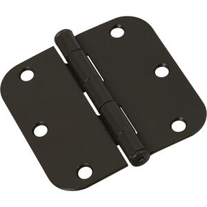National Hardware  3-1/2 in. L Oil Rubbed Bronze  Door Hinge  1 pk