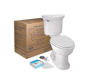 Mansfield  Waverly  Elongated  Complete Toilet  1.28 gal. ADA Compliant White