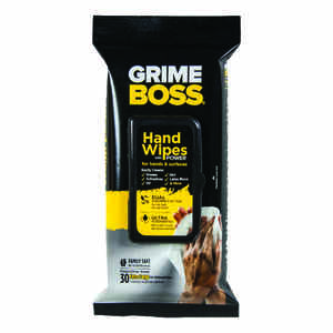 Grime Boss  Fiber Blend  Cleaning Wipes  9.8 in. W x 8.2 in. L 30 pk