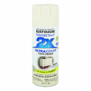 Rust-Oleum  Painter's Touch Ultra Cover  Satin  Heirloom White  Spray Paint  12 oz.