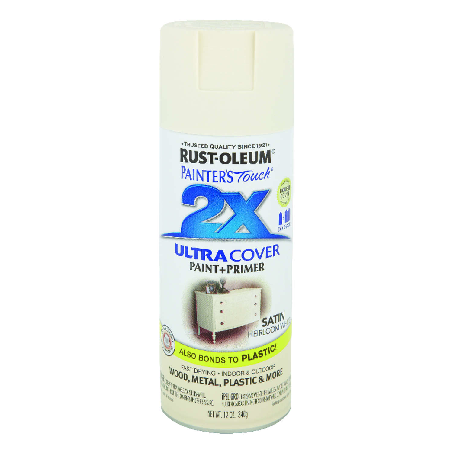 Rust-Oleum  Painter's Touch 2X Ultra Cover�  Satin  Heirloom White  Spray Paint  12 oz.