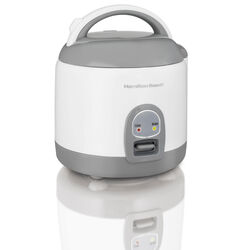 Hamilton Beach  White  8 cups Programmable Rice Cooker