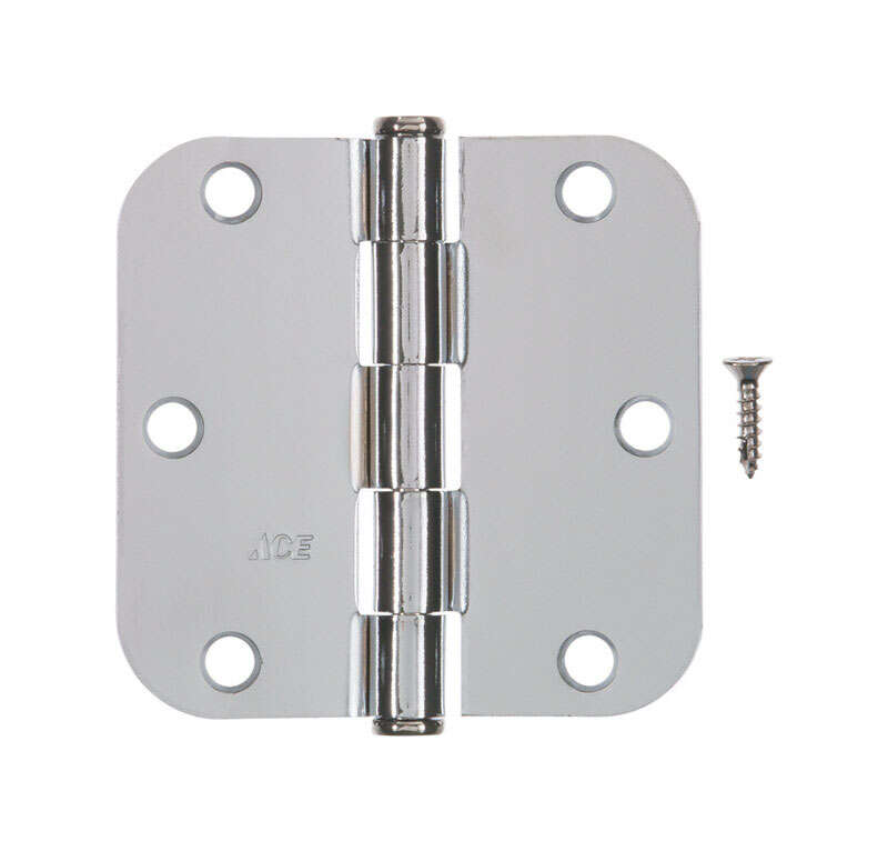 Ace  3-1/2 in. L Chrome  Residential Door Hinge  1 pk