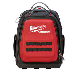 Milwaukee  PACKOUT  11.81 in. W x 15.75 in. H Ballistic Nylon  Backpack Tool Bag  48 pocket Black/Re