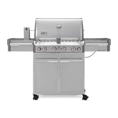 Weber  Summit S-470  Liquid Propane  Grill  Stainless Steel  4 burners
