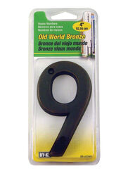 Hy-Ko 4 in. Bronze Brass Nail-On Number 9 1 pc.