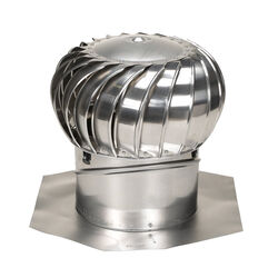 Air Vent  Air Hawk  21.3 in. H x 14 in. Dia. Mill  Aluminum  Turbine and Base