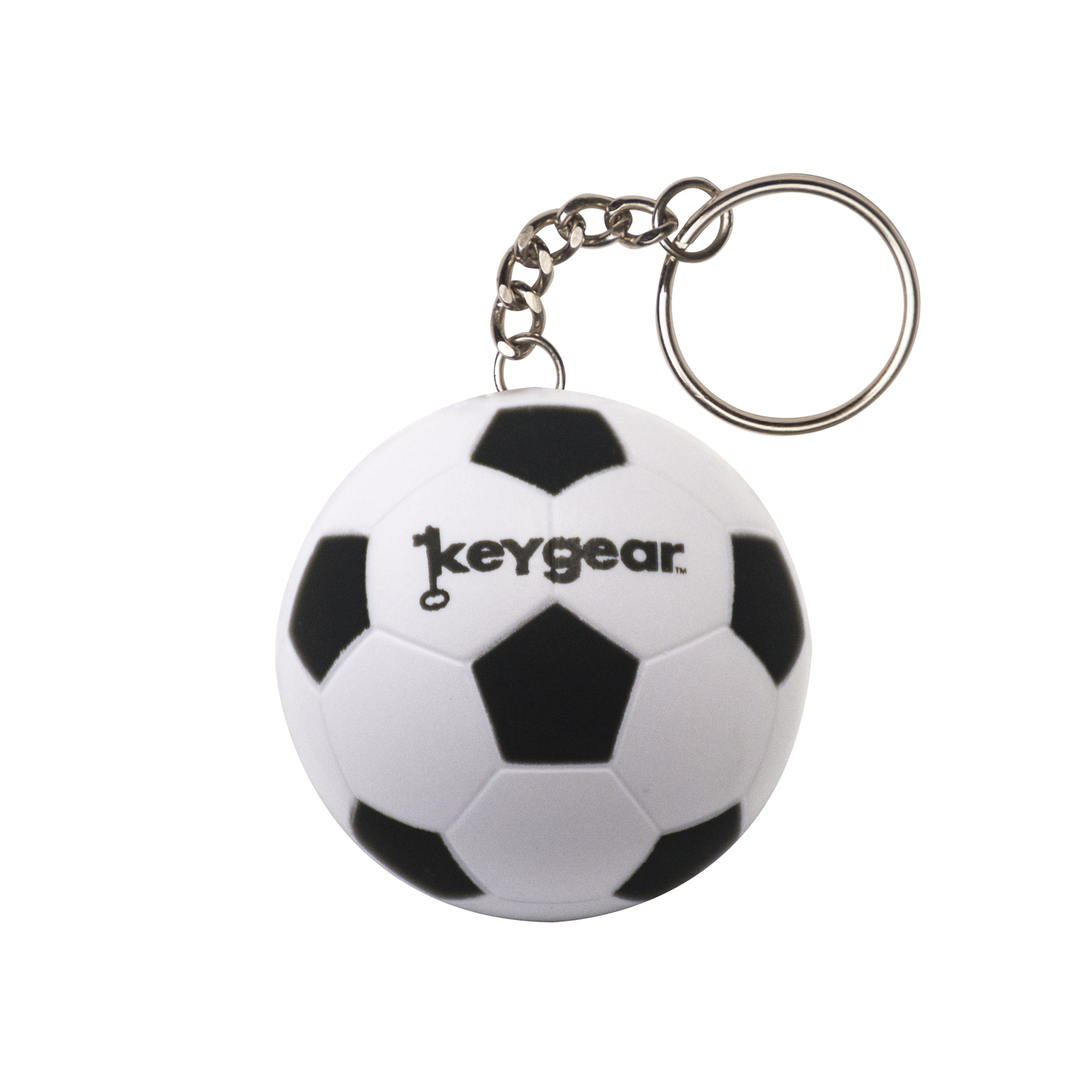 KeyGear  in in. Dia. Rubber  White  Coiled  Key Chain