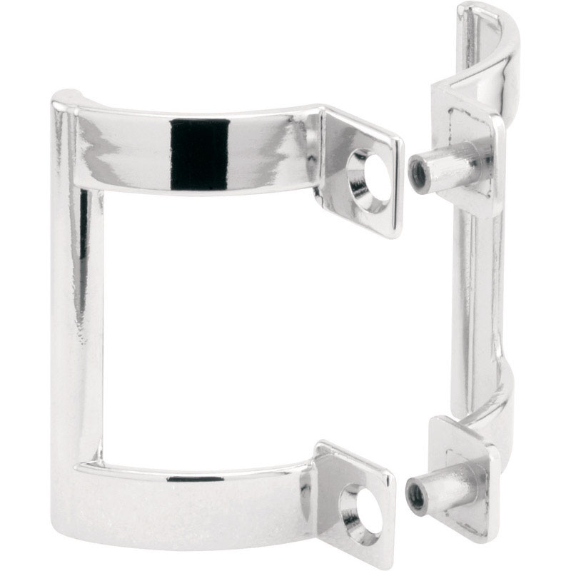 Prime-Line  2.8 in. W x 2 in. H Frameless  Chrome  Shower Door  Side mount 1 pk